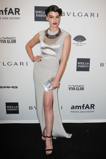 Crystal Renn lors du gala de l'amfar à New York, le 5 février 2014.