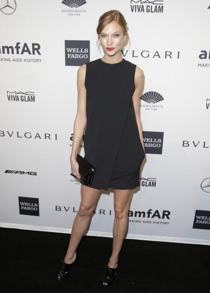 Karlie Kloss lors du gala de l'amfar à New York, le 5 février 2014.