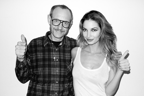 Lily Aldridge et Terry Richardson