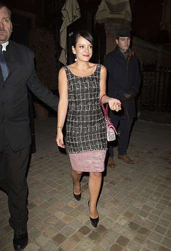 Lily Allen à Londres le 15 février 2014