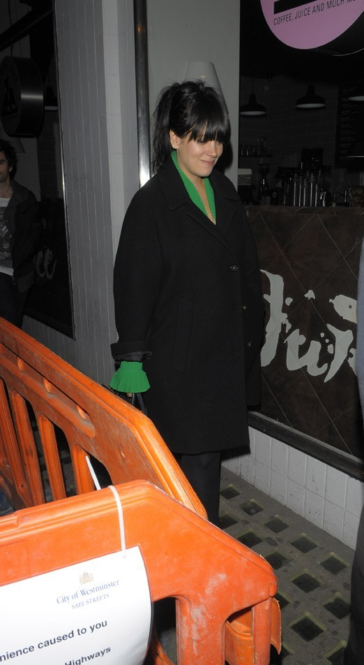 Lily Allen à Londres le 19 septembre 2012
