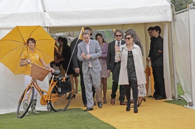 Lily Allen et son mari Sam Cooper lors de la compétition de polo, Veuve Clicquot Gold Cup final polo, lundi 18 juillet à Midhurst.