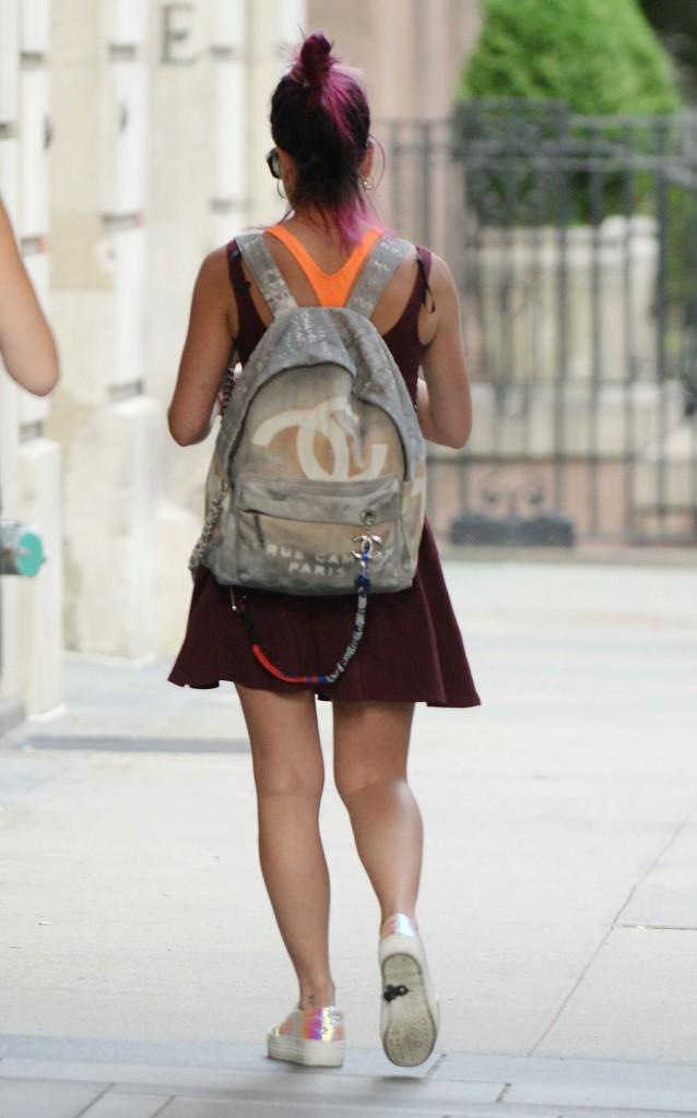 Lily Allen dans les rues de New York le 29 juillet 2014