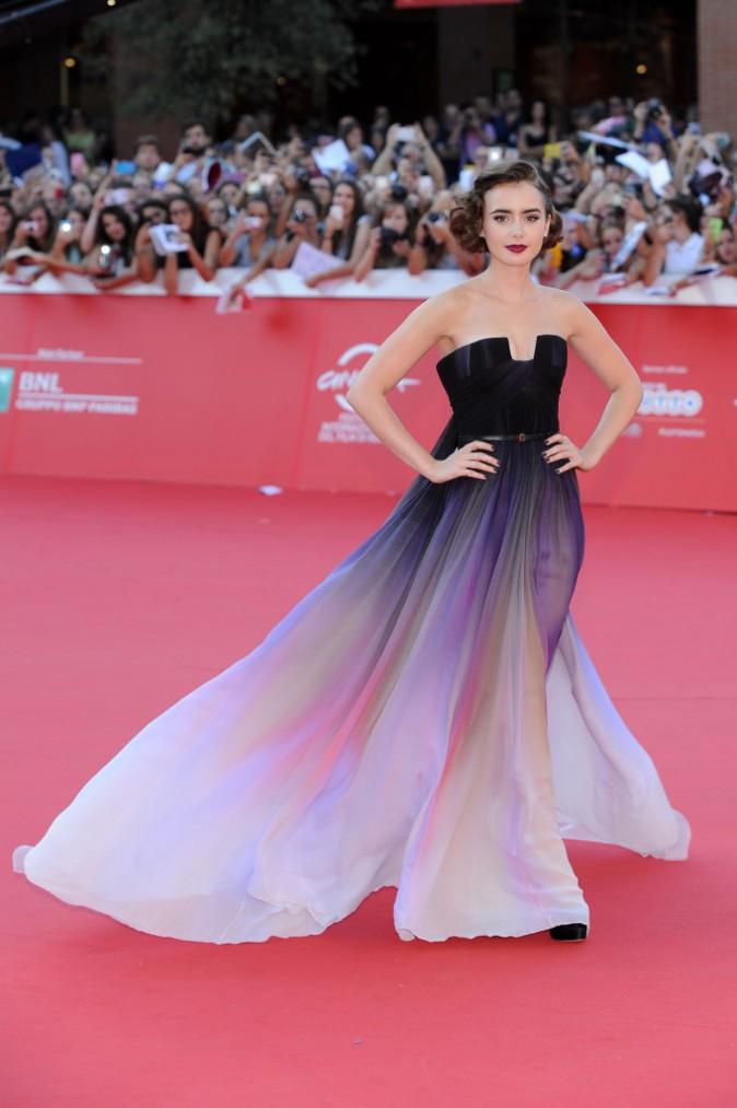 Lily Collins lors du Festival du Film de Rome, le 19 octobre 2014.