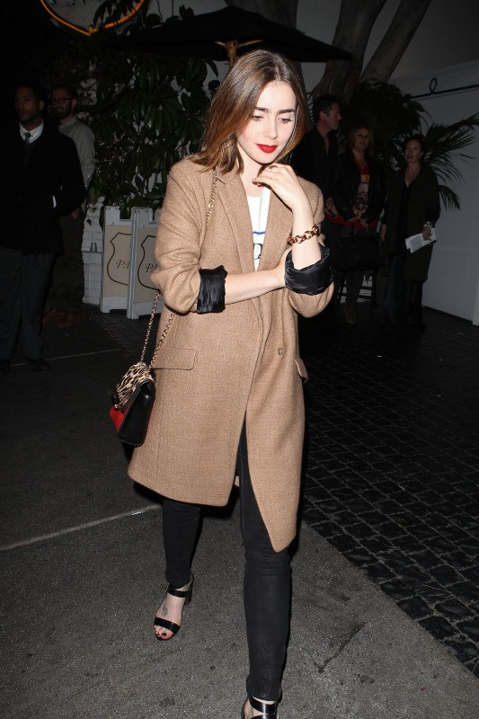 Lily Collins lors de l'after-party du concert de 30 Seconds to Mars, le 13 octobre 2013.