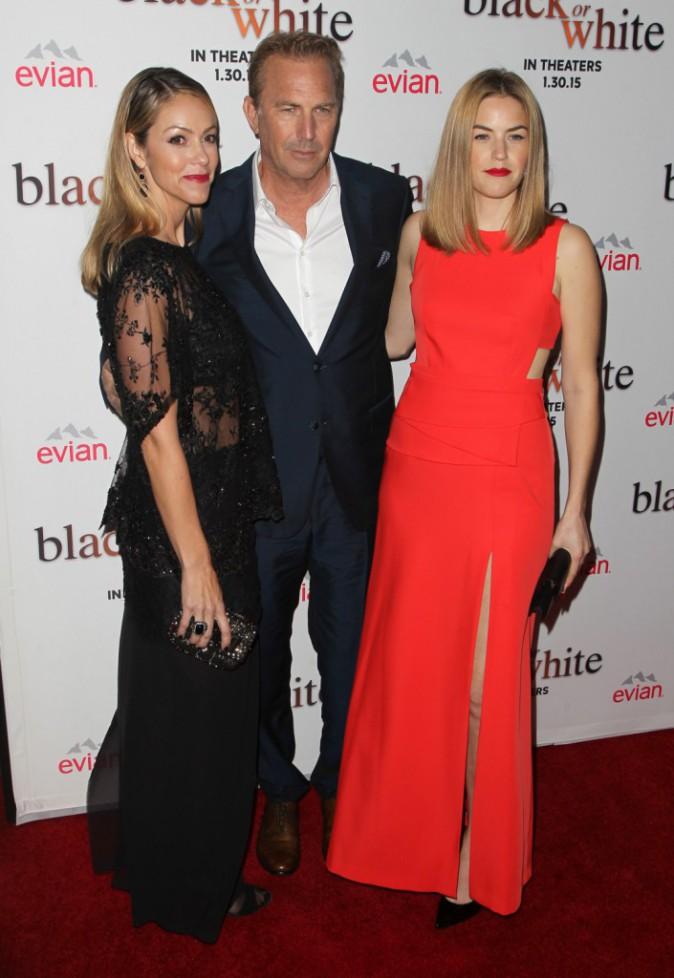 Lily Costner, Kevin Costner et Christine Baumgartner le 20 janvier 2015