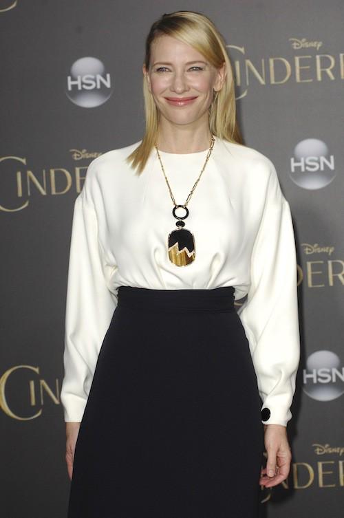 Photos :Cate Blanchett à la première de Cendrillon le 1er mars 2015