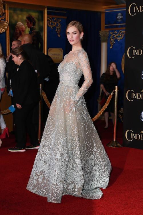 Photos : Lily James : Cendrillon féérique face à une Cate Blanchett tout en sobriété !