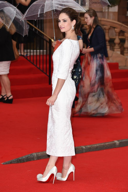 Lily James à la soirée Downton Abbey, à Londres, le 11 août 2015 !