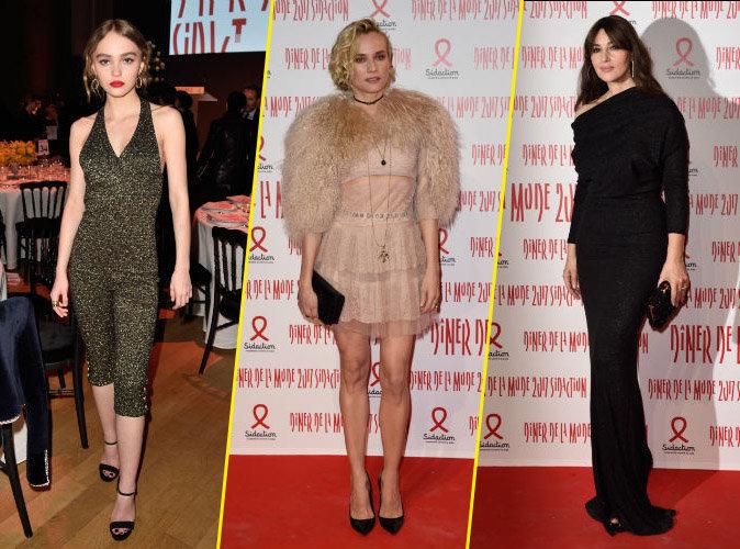 Lily-Rose Depp, Diane Kruger, Monica Bellucci... mode et cinéma se rencontrent au dîner du Sidaction !
