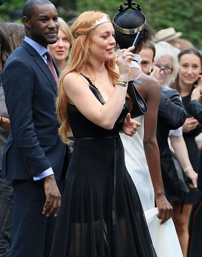 Lindsay Lohan soutient sa soeur lors de la fashion week de New York, le 4 septembre 2013