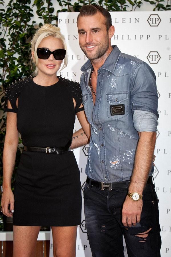 Philipp Plein et Lindsay Lohan hier à Milan