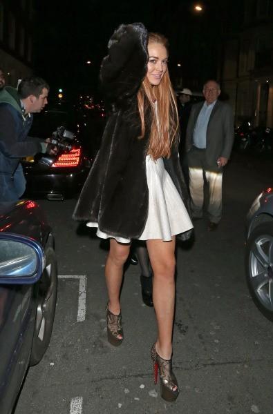 Lindsay Lohan à Londres, le 30 décembre 2012.