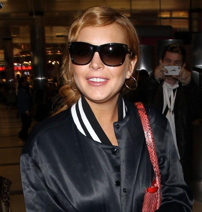 Lindsay Lohan à l'aéroport de Los Angeles, le 27 mars 2013.