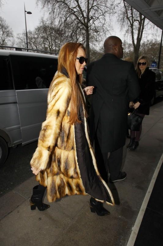 Lindsay Lohan le 29 décembre 2012 à Londres