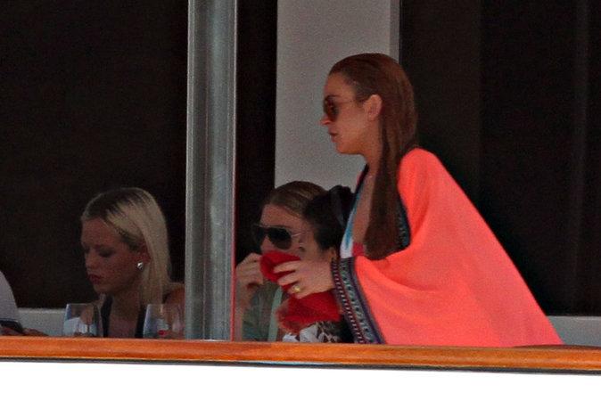 Lindsay Lohan et ses amies en Italie le 27 juillet 2016