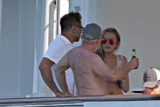 Lindsay Lohan et ses amis en Italie le 27 juillet 2016