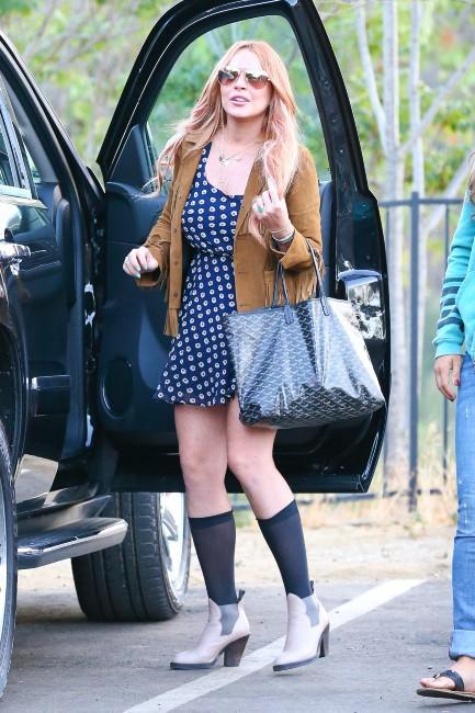 Lindsay Lohan à sa sortie de rehab à Malibu, le 30 juillet 2013.
