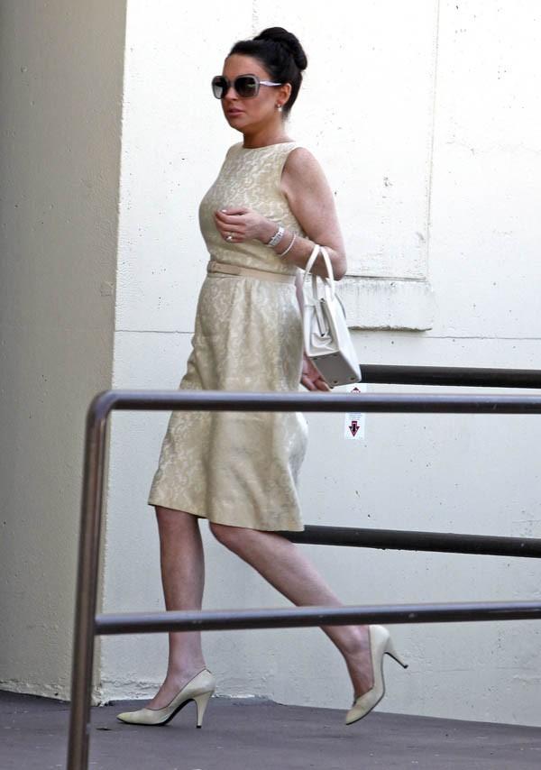 Lindsay Lohan sur le tournage de Liz & Dick le 21 juin 2012
