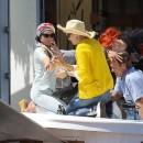 Lindsay Lohan sur le tournage de Liz & Dick le 5 juin 2012