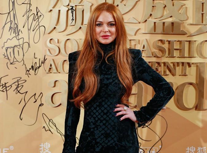 Lindsay Lohan à Shanghai le 6 janvier 2014