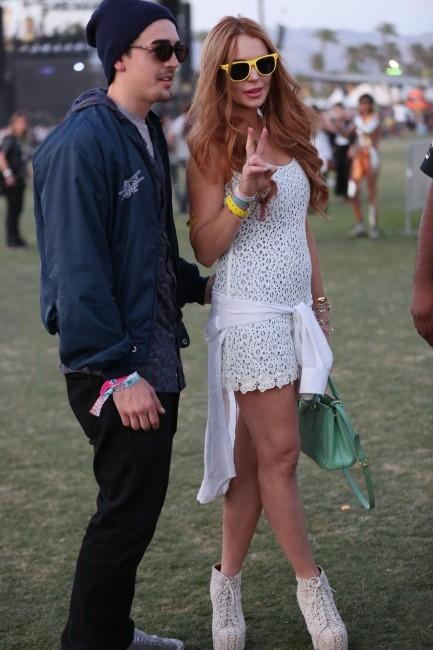 Lindsay Lohan au Festival de Coachella en Californie, le 15 avril 2012.