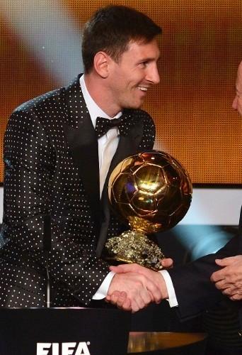 Lionel Messi lors de la remise de son Ballon d'Or, le lundi 7 janvier 2013