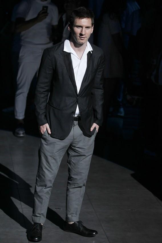 Lionel Messi au défilé Dolce & Gabbana le 22 juin 2013