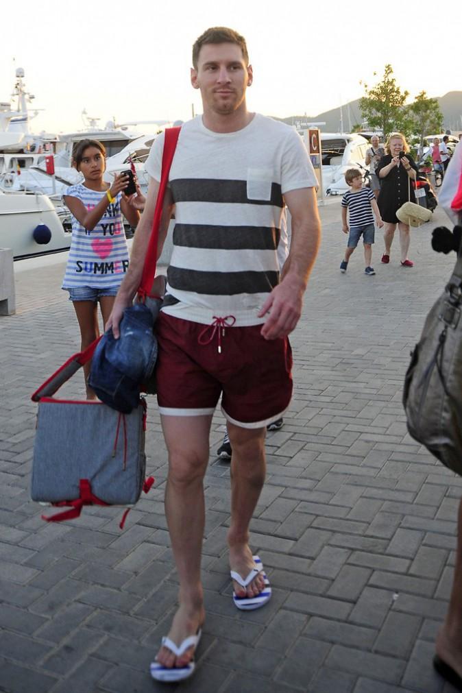 Lionel Messi en vacances à Ibiza le 8 juillet 2013