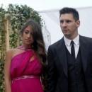 Lionel Messi et sa compagne au mariage de Xavi Hernandez à Blanes le 13 juillet 2013