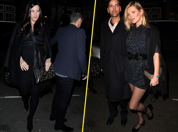 Liv Tyler et Kate Moss à Londres le 20 novembre 2014