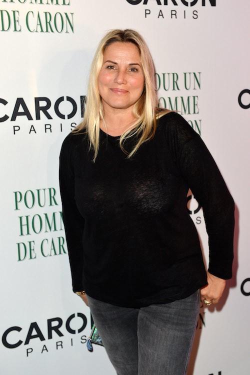 Sophie Favier aux 80 ans de Caron, à Paris, le 9 octobre 2014