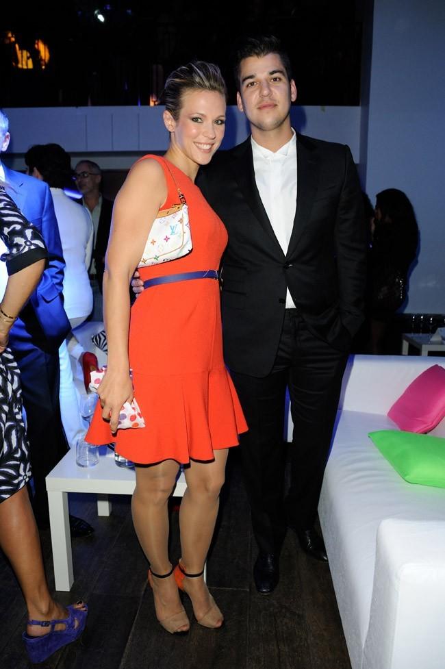 Lorie et Rob Kardashian le 19 septembre 2012 à Paris