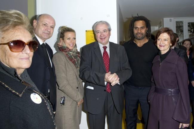 Lorie, Bernadette Chirac et Christian Karembeu le 4 février 2013 à Paris