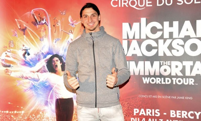 "Zlatan Ibrahimovic à Bercy pour le Michael Jackson ""Immortal World Tour"" le 3 avril 2013"