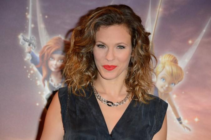 """Lorie lors de l'avant-première de """"Clochette et la fée pirate"""" à Paris, le 25 mars 2014."""