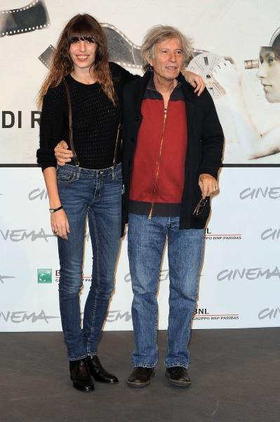 Lou Doillon et son père Jacques Doillon le 15 novembre 2012 à Rome