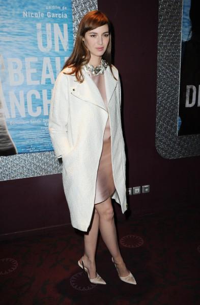 Louise Bourgoin lors de la première du film Un Beau Dimanche, le 3 février à Paris.