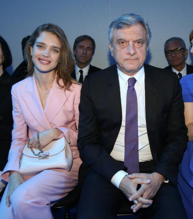 Natalia Vodianova et Sidney Toledano lors du défilé Haute Couture de la maison Dior à Moscou, le 9 juillet 2013.