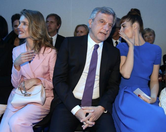 Natalia Vodianova, Sidney Toledano et Louise Bourgoin lors du défilé Haute Couture de la maison Dior à Moscou, le 9 juillet 2013.