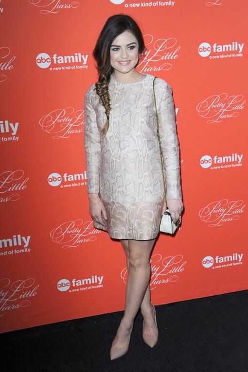 Lucy Hale à la soirée Pretty Little Liars organisée à New-York le 18 mars 2013