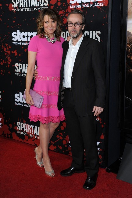 Lucy Lawless et John Hannah le 22 janvier 2013 à Los Angeles