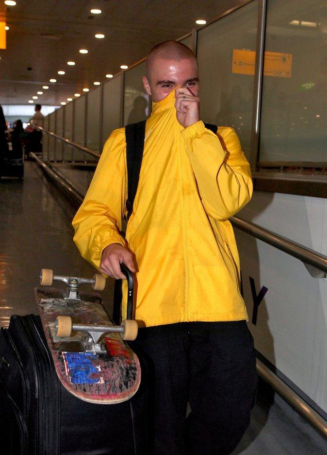 Rocco Ritchie, fils de Madonna et Guy Ritchie à l'aéroport cette semaine