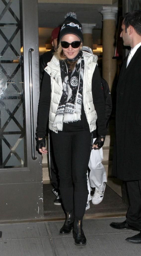 Madonna à a sortie de chez elle hier !