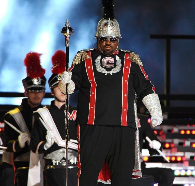 Cee Lo Green lors de la finale du Super Bowl à Indianapolis, le 5 février 2012.