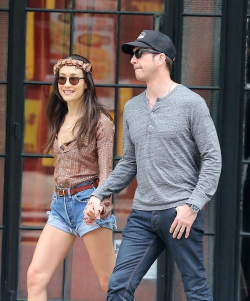 Maggie Q et Dylan McDermott à New-York le 5 mai 2015