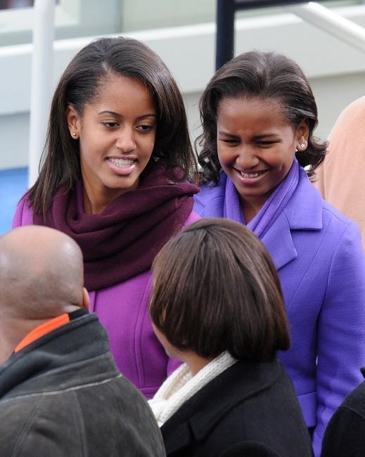 Malia Ann et Sacha Obama, Washington, 21 janvier 2013.