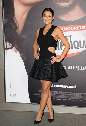 Emmanuelle Chriqui à Paris le 17 mars 2014