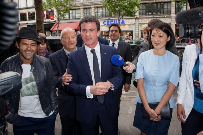Jamel Debbouze, Manuel Valls et Fleur Pellerin