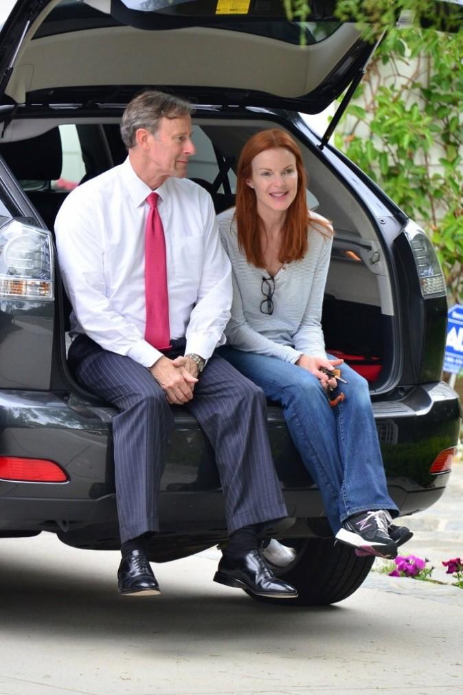 Marcia et son mari sont détendus !